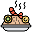 dish, food, fried, rice, shrimp icon