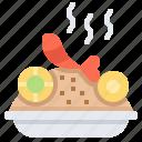 dish, food, fried, rice, shrimp icon