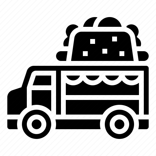 delivery, dogs, food, hot, street, truck icon