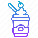 cream, cup, frozen, ice, sweets icon
