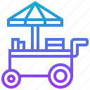 asian, food, kiosk, street, trolley icon