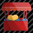 vegetable, market, kiosk, shop, fruit, store icon