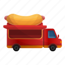 delivery, dog, food, hot, truck