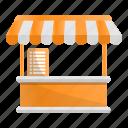 food, kiosk, market, sale, tent