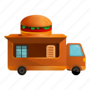 burger, car, food, truck, van