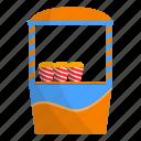 cart, corn, kiosk, pop, popcorn, stand