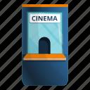 admit, booth, cinema, kiosk, movie, ticket