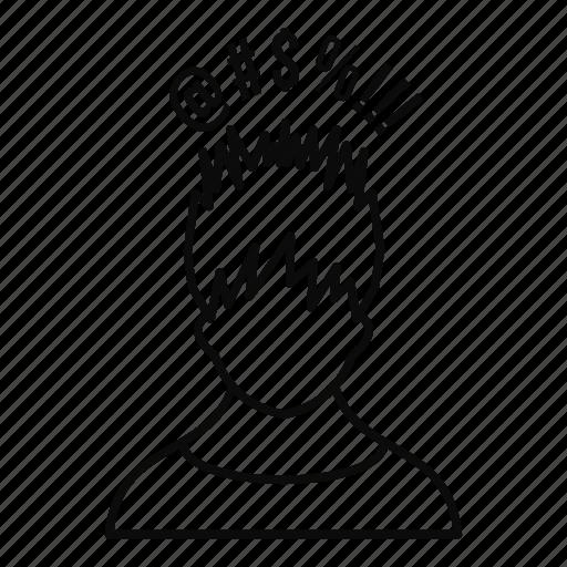 line, man, outline, person, question, sharp, success icon