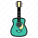 cort, folk, guitar, music, sound, string instruments icon