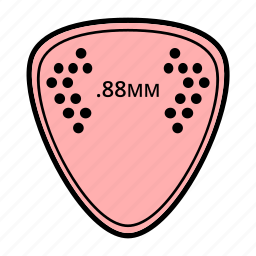guitar, guitar accessories, music, pick, rythm, strings instruments icon
