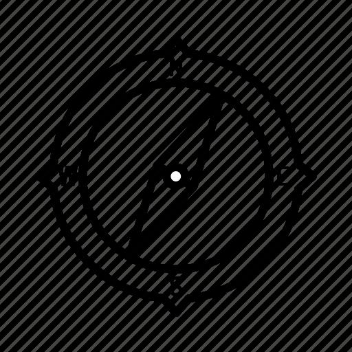 command, compass, control, direction, guidance, navigation, sensor icon