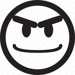 avatar, circle, emoticon, emotion, face, happy, simple shape icon