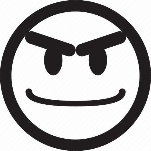 avatar, circle, emoticon, emotion, face, happy, simple shape icon