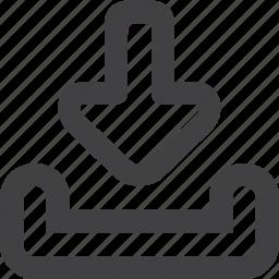 arrow, down, download, inbox, next icon