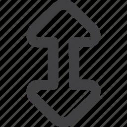 arrow, arrows, back, circle, down, move, up icon