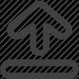 arrow, circle, downloads icon