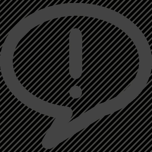 bubble, buzz, chat, communication, error, message icon