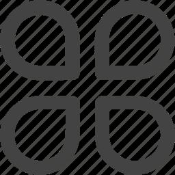 add, clover, file, green icon