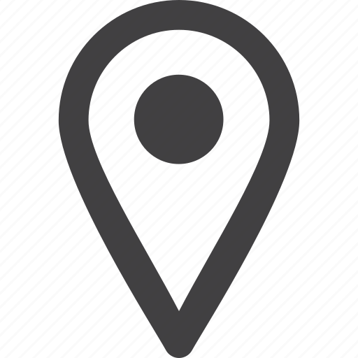 circle, grey, location, map, map pointer, mobile app, simple shape, tablet app icon