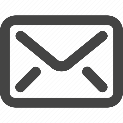check, email, grey, inbox, mail, simple shape icon
