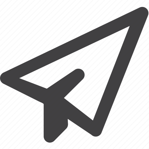 documents, page, paper, plane icon