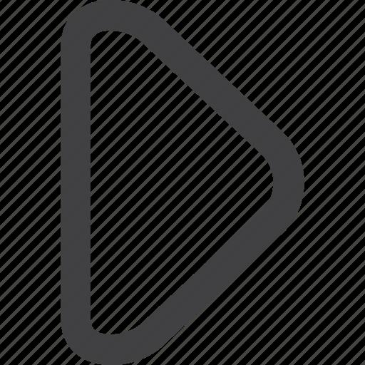 arrow, film, media, movie, music, play, sound, start, stop, up icon