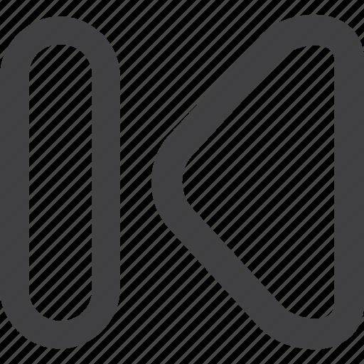 arrow, film, left, media, movie, music, next, previous, stock icon