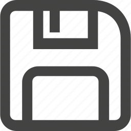 floppy disk, guardar, save, square icon