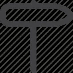 arrow, back, left, narrow, sign, stop, street, warning icon