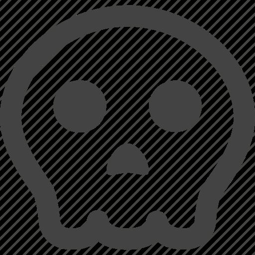 dangerous, death, ghost, halloween, pumpkin, skull, warning icon