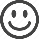 smile, emotion, simple shape, happy, face, emoticon icon