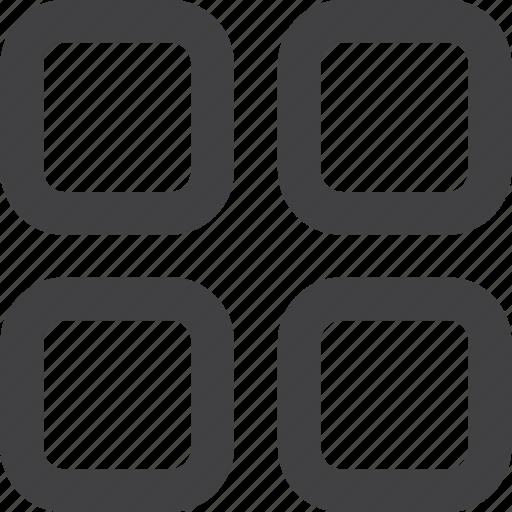 control, screen, simple shape, square icon