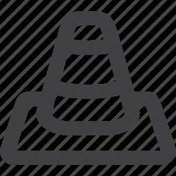 cone, danger, orange, sign, traffic, traffic cone, transportation, warning symbol icon