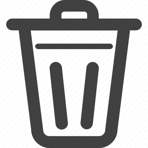 bin/tub, bucket, container, delete, delete key, empty, full, garbage, garbage bin, garbage can, recycle bin, recycling, trash icon
