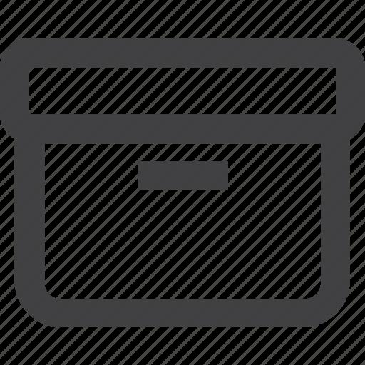 box, hand, tool icon