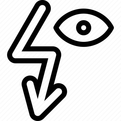arrow, down, eye, move icon
