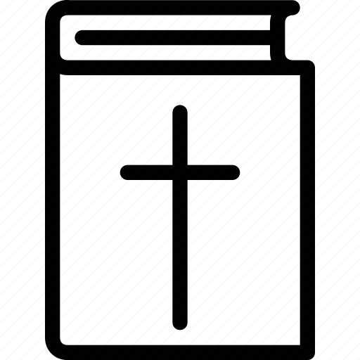 bible, christian, cross, religion icon