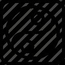 yang, yin, chinese, religion icon