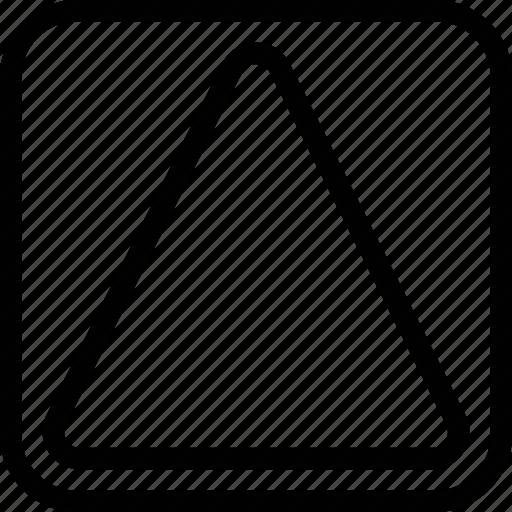 line, shape, triangle icon
