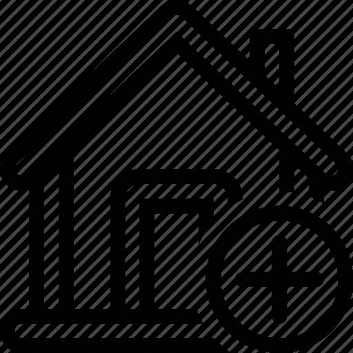 add, estate, home, house icon