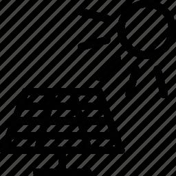 panel, power, sun, tech icon