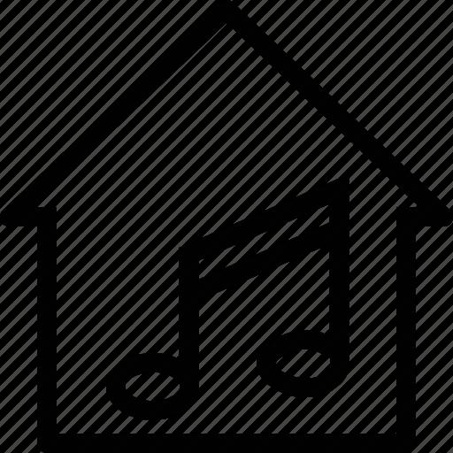 audio, home, house, music, sound icon