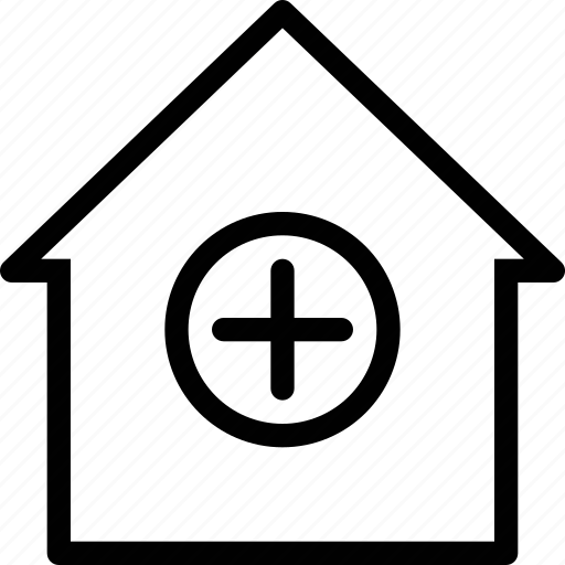 add, building, estate, home, house icon
