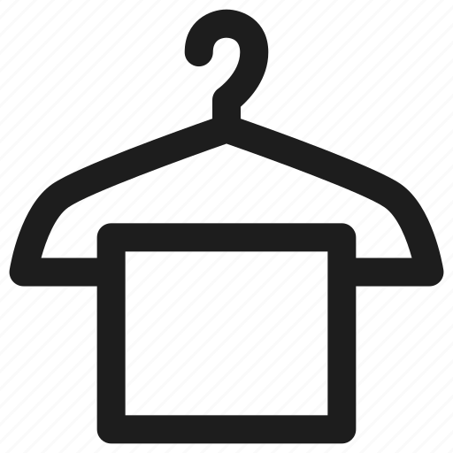 bathroom, hanger, hotel, towl icon