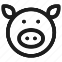 animal, face, pet, pig, zoo icon