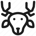animal, deer, zoo icon