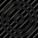 focus, shoot target, sport, target icon