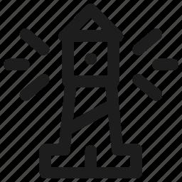 lighthouse, sea, transport, transportation, vehicle, warning icon
