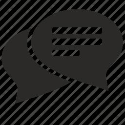 dialog, education, study icon