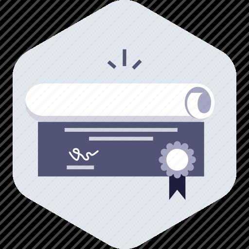 achievement, certificate, college, diploma, education, graduation icon